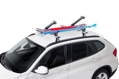940-221 - porte skis cruz sur barres 6 skis/4 surfs (2 pieces
